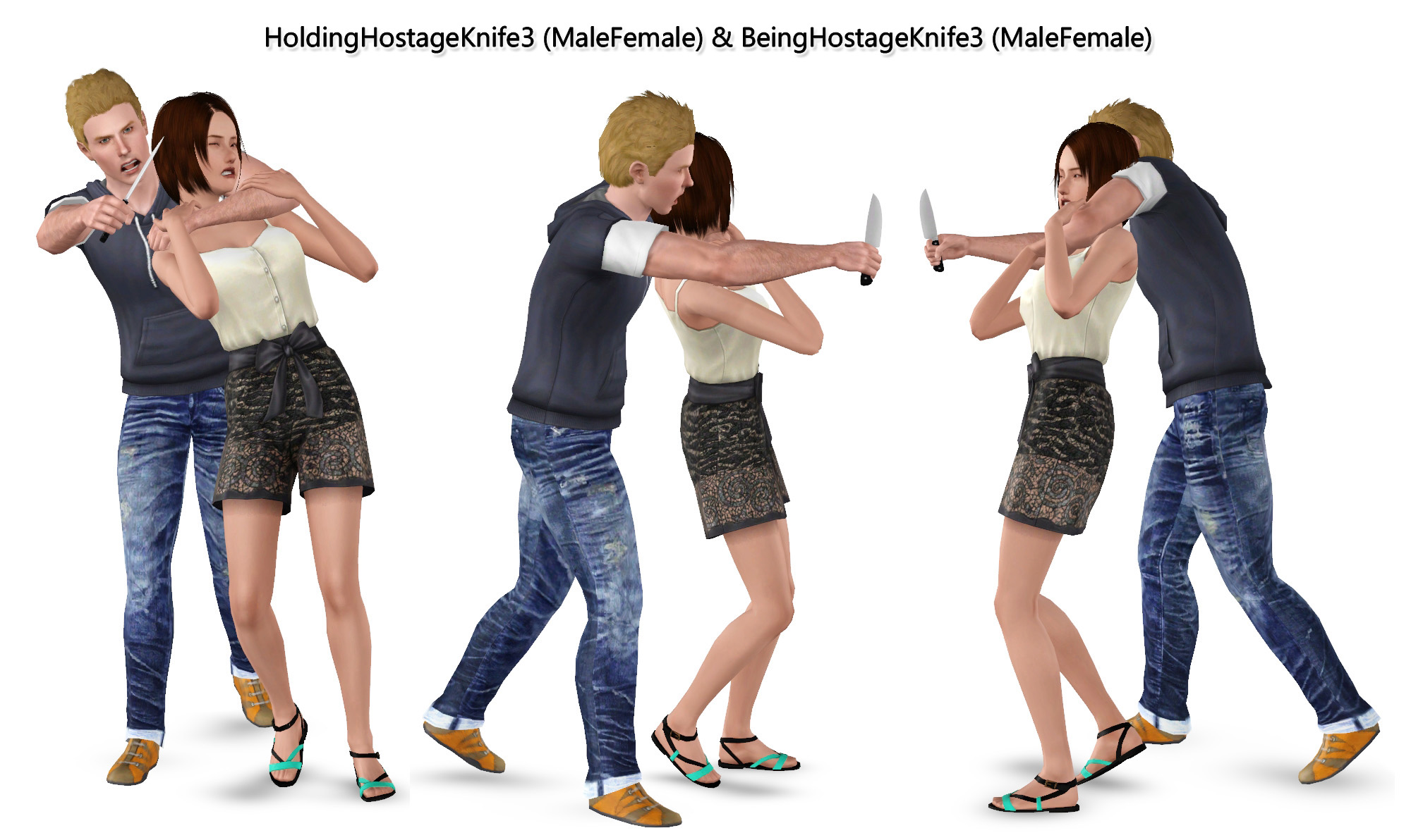 Mod The Sims Hostage With Knife Poses