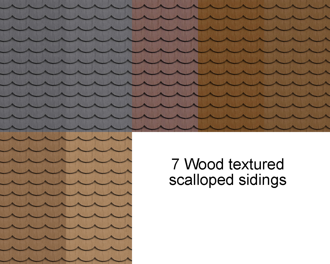 Mod The Sims - Wood textured scalloped siding *updated with 23 more colors*