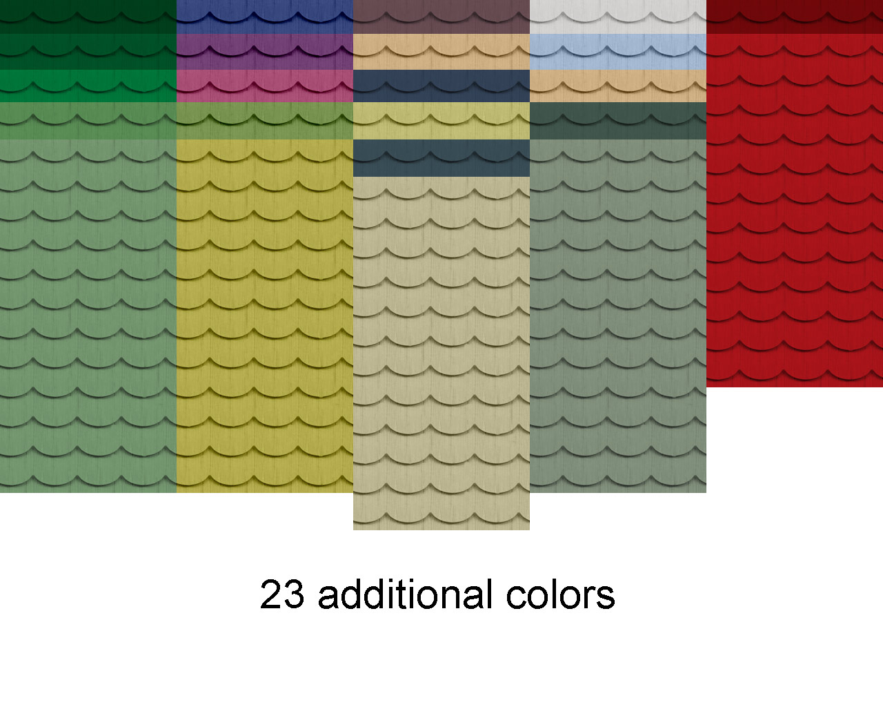 Red wall paint colors - Mod The Sims Wood Textured Scalloped Siding Updated