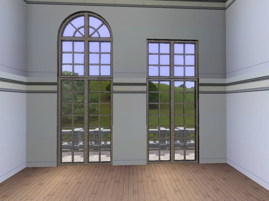 2 Story Doors : Mod the sims versailles two story window set updated