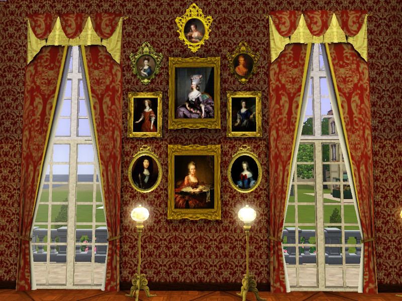 Mod The Sims Court Of Versailles Two Story Curtains