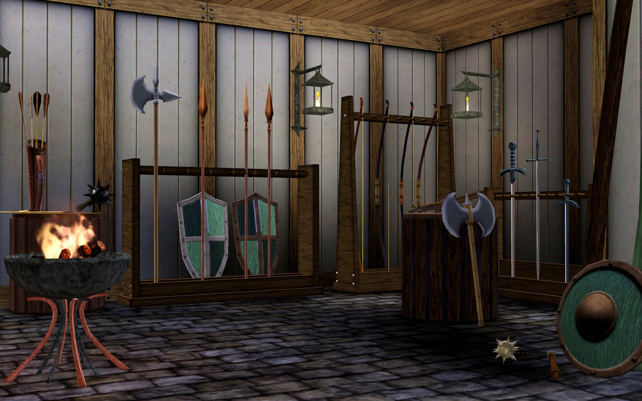 Mod The Sims Medieval Armoury Part 1 Ye Olde Kingdom