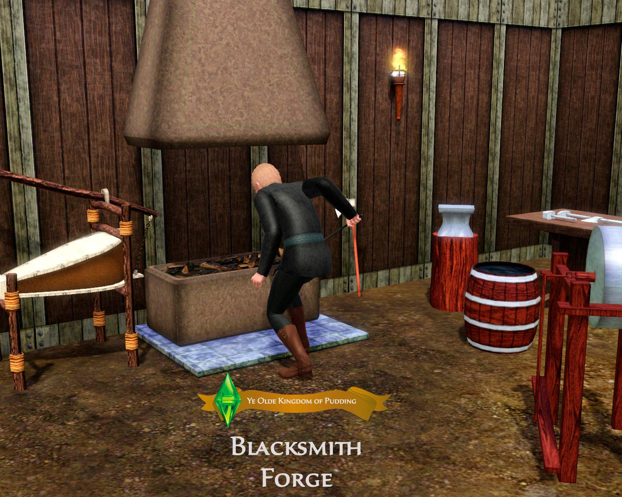 Mod The Sims - Medieval Blacksmith - Forge - Ye Olde Kingdom of Pudding