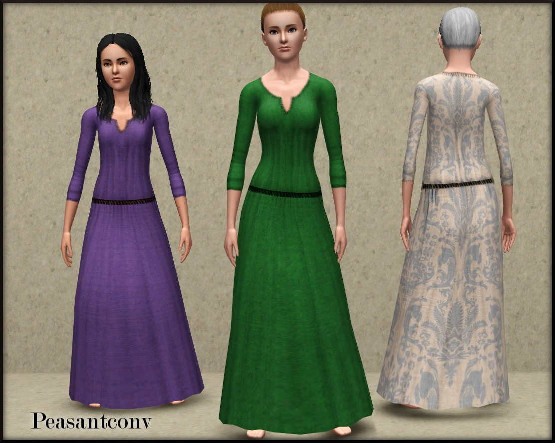 34f6c025e5aa2 Mod The Sims - Medieval Female Clothing - Ye Olde Kingdom of Pudding ...
