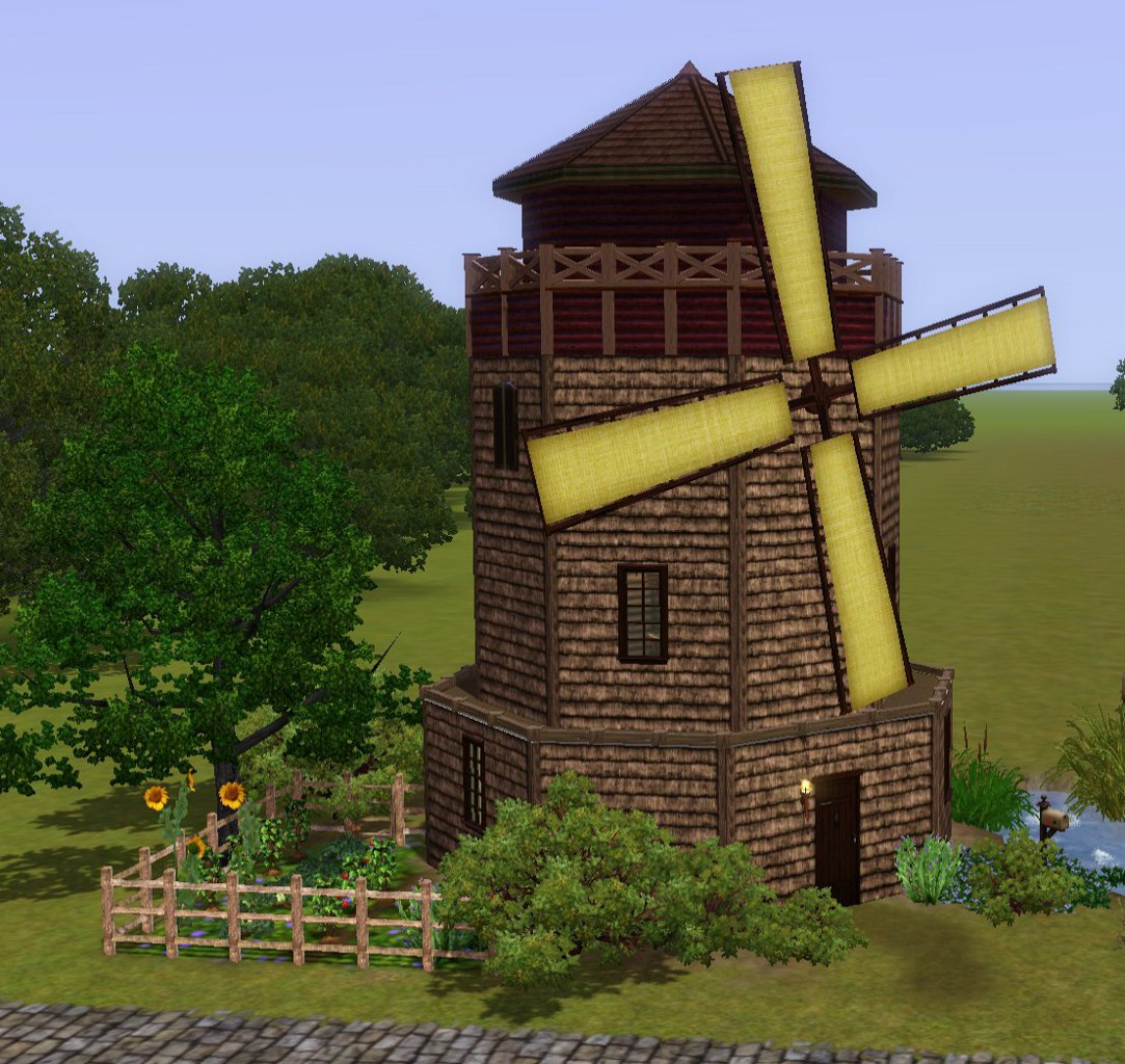 Mod The Sims - Medieval Windmill Home - Ye Olde Kingdom of Pudding