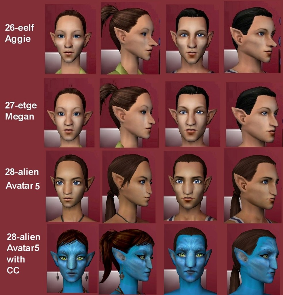 mod the sims 28 elf eared replacement faces and a no townies mod