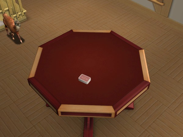 Sims 2 poker table