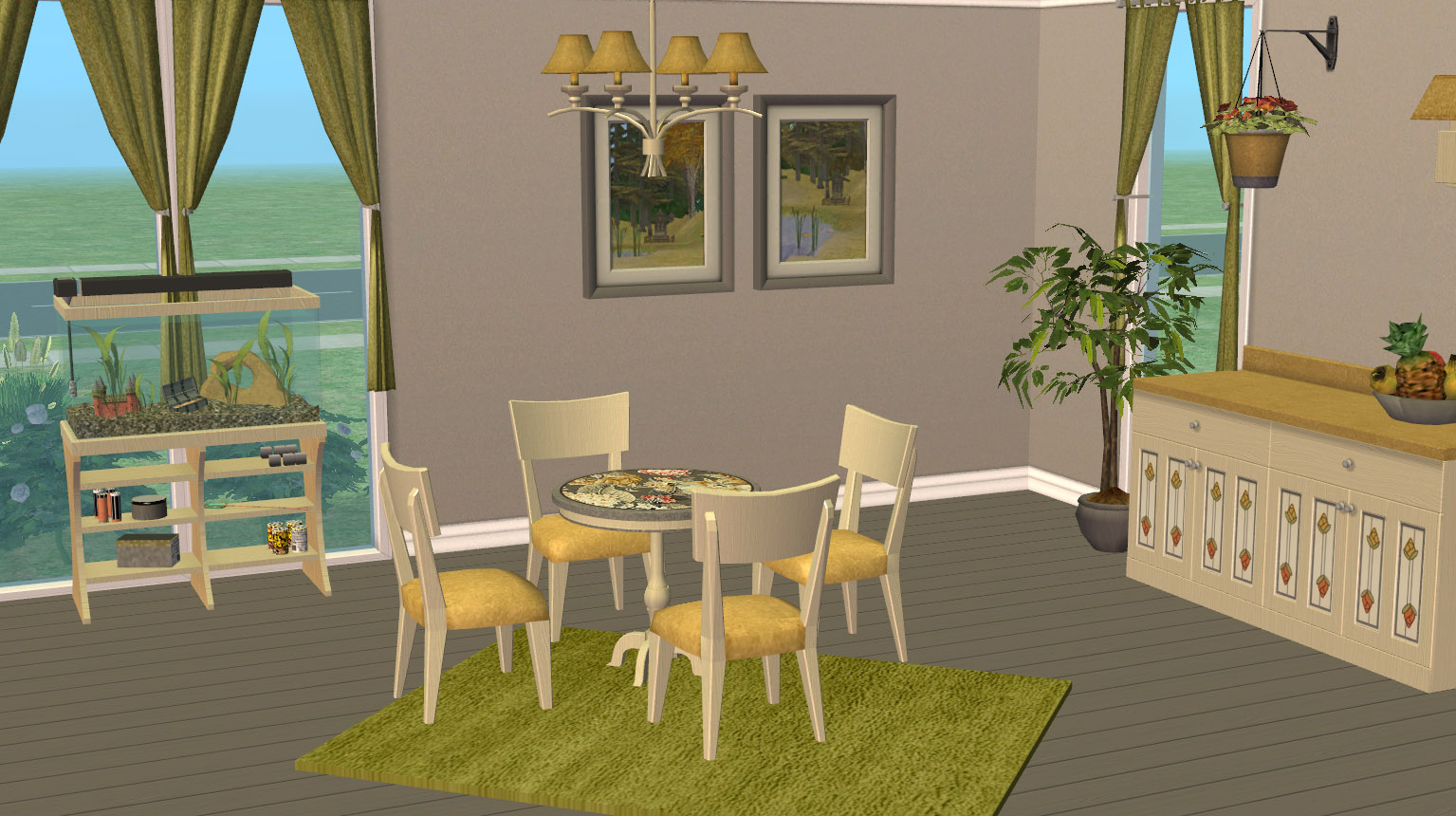 Mod the sims claybee kitchen and dining room maxis for Sims 3 dining room ideas