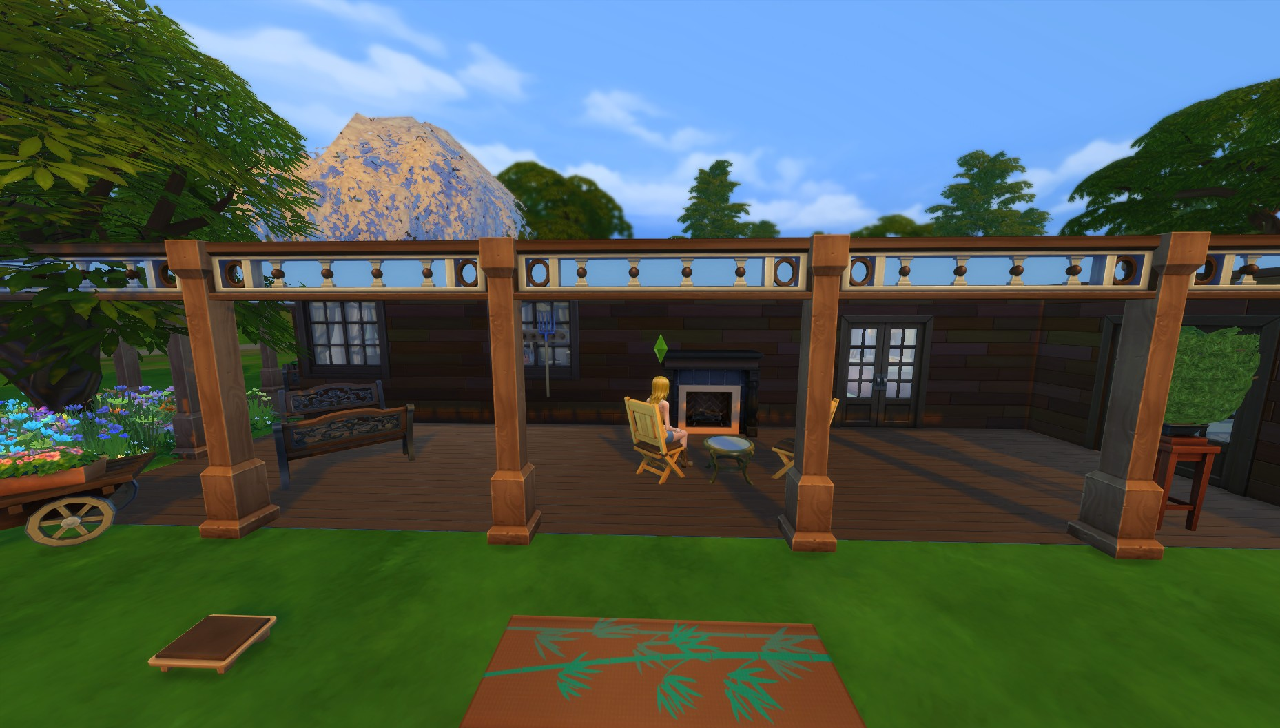 Mod the sims single level ranch home for Single ranchers