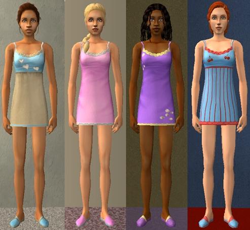 Mod The Sims Maxis Match Sleepwear For Teens