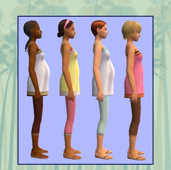 Pregnant teen sims