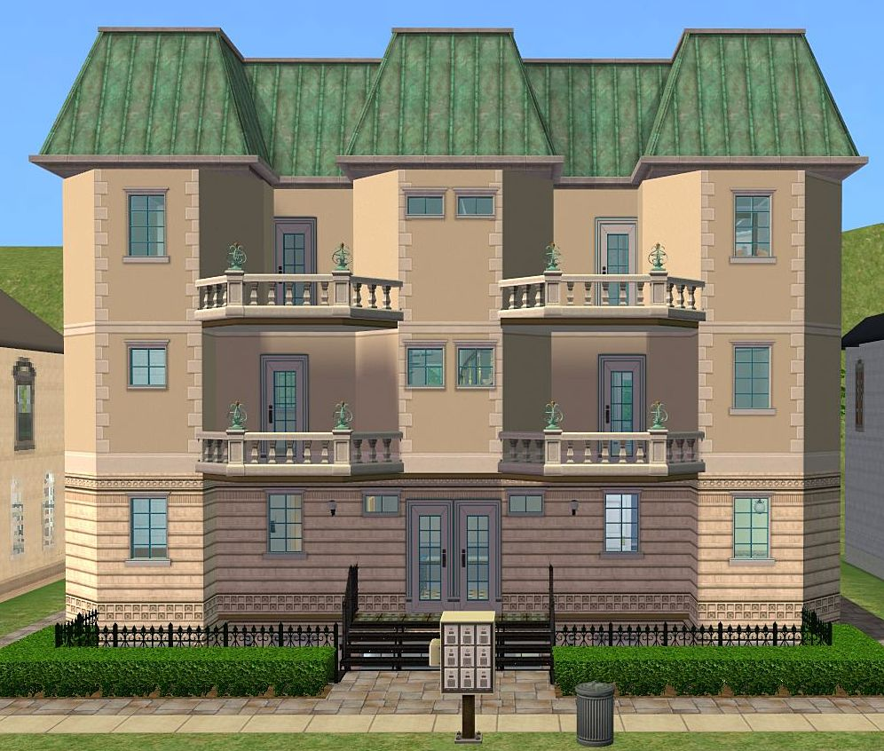 Mod the sims town house with basement apartment for House with basement apartment
