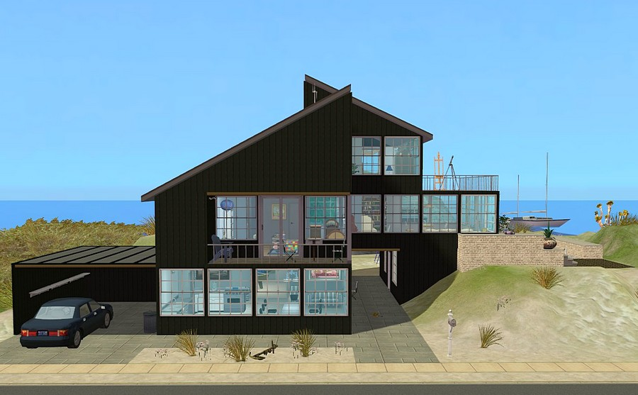 Mod The Sims Link To The Past Modern Beach House