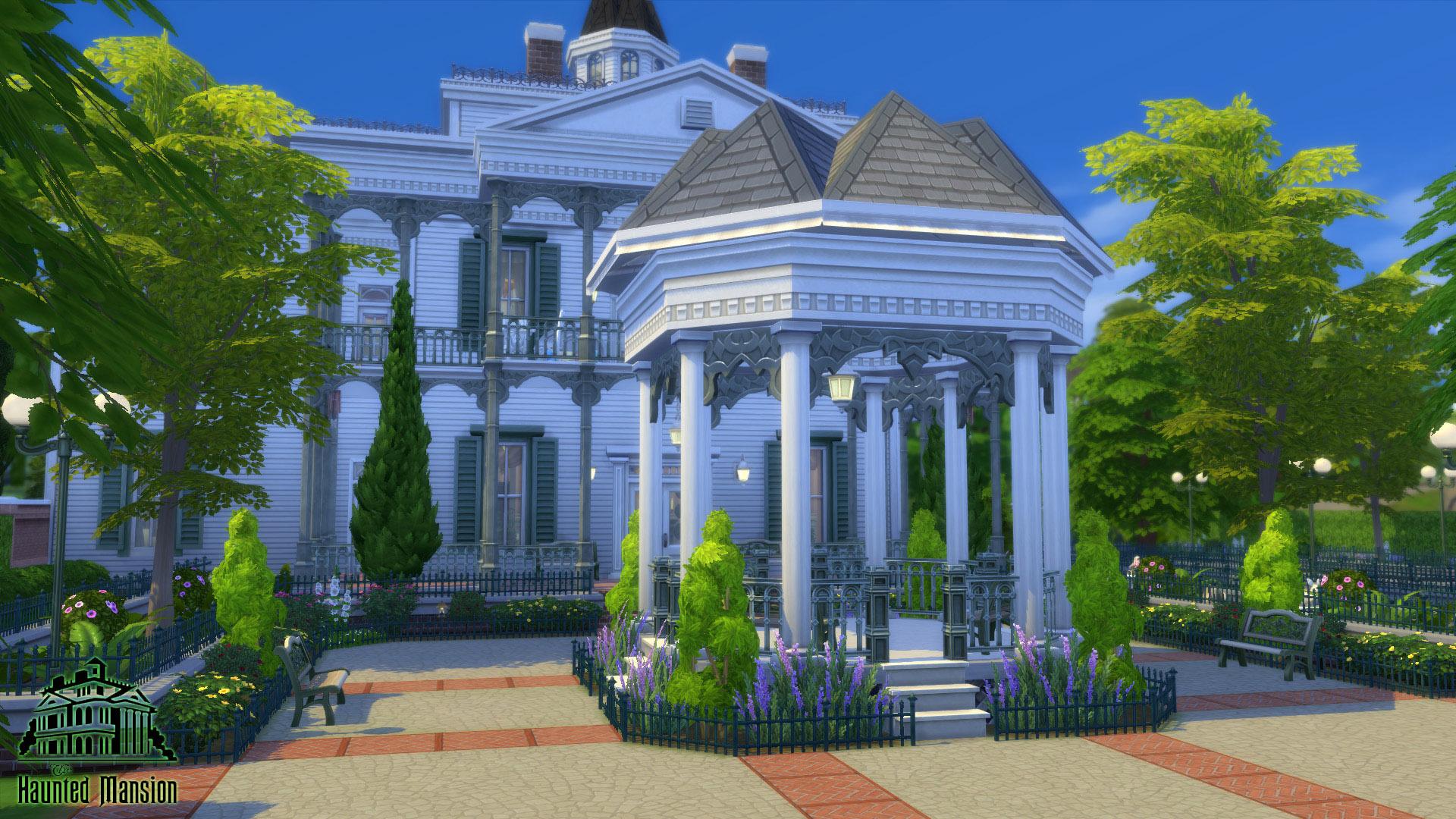 Mod the sims cc free antebellum plantation aka the for 3 4 house