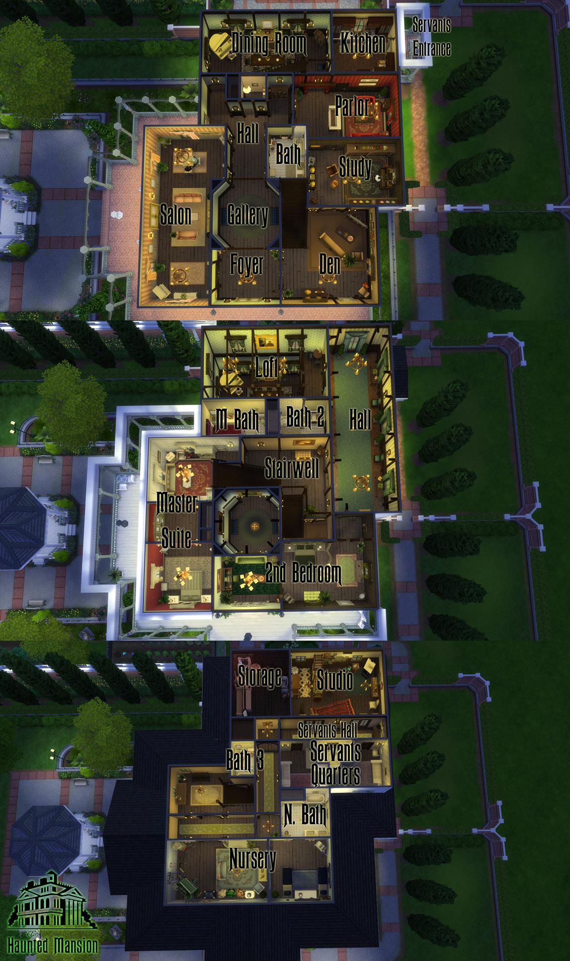 Advertisement. Mod The Sims   CC Free Antebellum Plantation aka  The Haunted Mansion