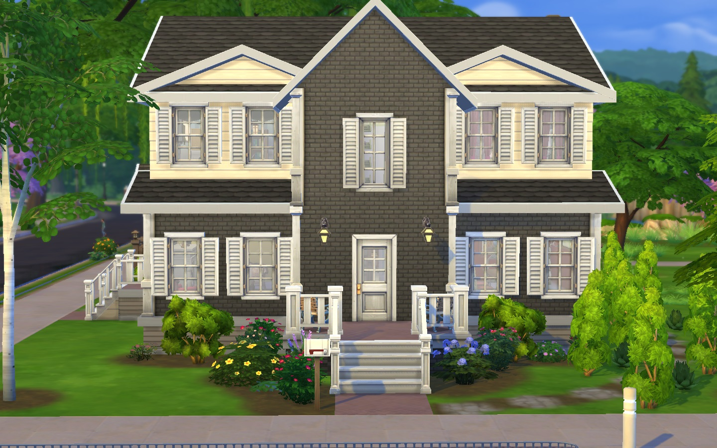 Mod the sims the family home 5bed for House plans for family of 4