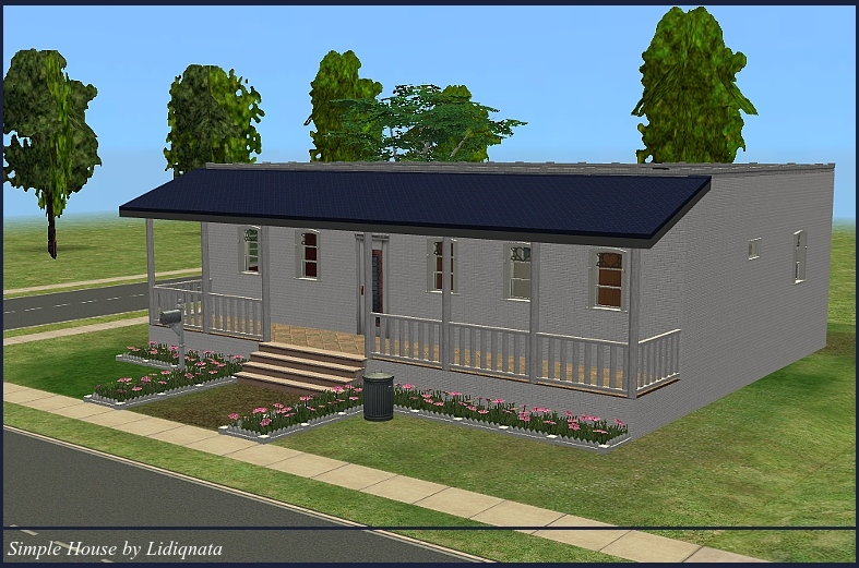 Mod the sims small and simple house for Minimalist house the sims 3