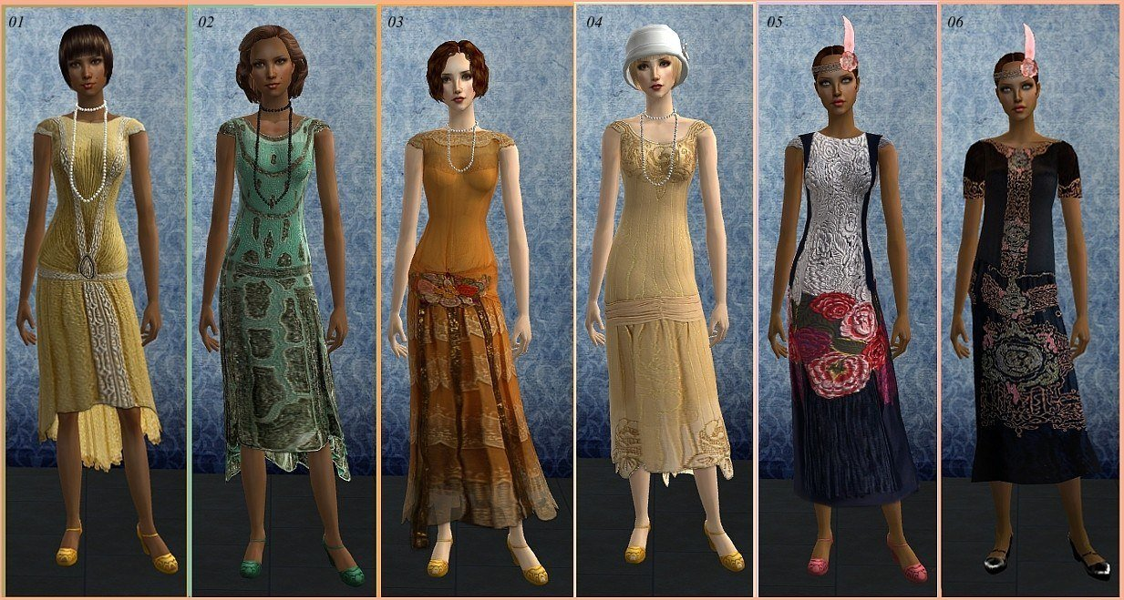 Mod The Sims - *Flapper Dresses*