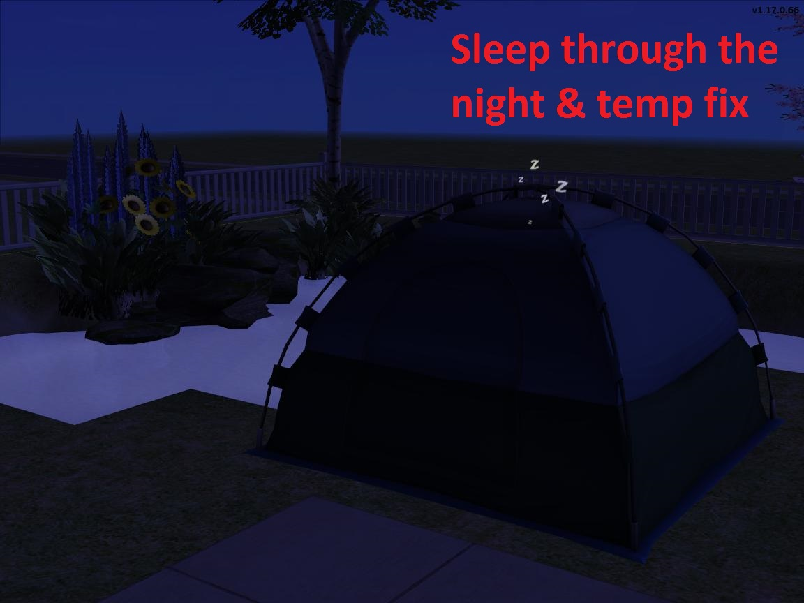 ... × & Mod The Sims - Tent logic improvements