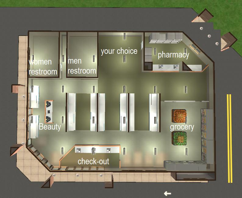Mod the sims cvs pharmacy for Pharmacy floor plan