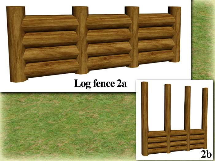 Mod The Sims 7 Log Fences For Wood Cabins