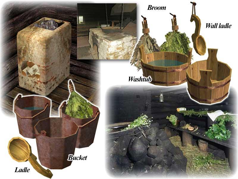 Mod The Sims - Russian Banya (rustic sauna)