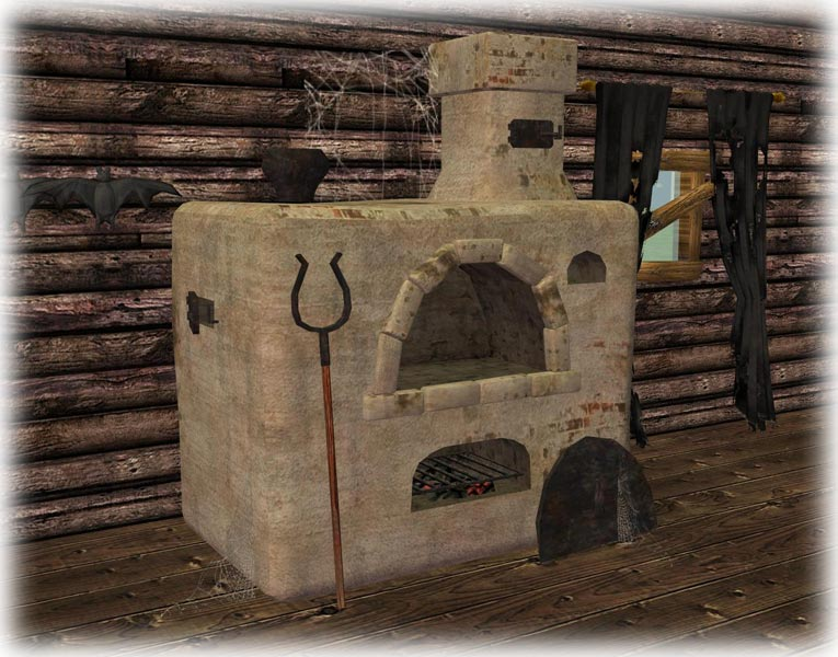 Mod The Sims - Russian clay stove (Please redownload!)