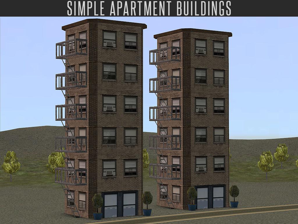Simple Apartment Building Neighbourhood Decoration