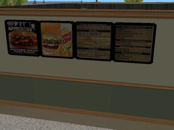 Mod The Sims Burger King Menu Set