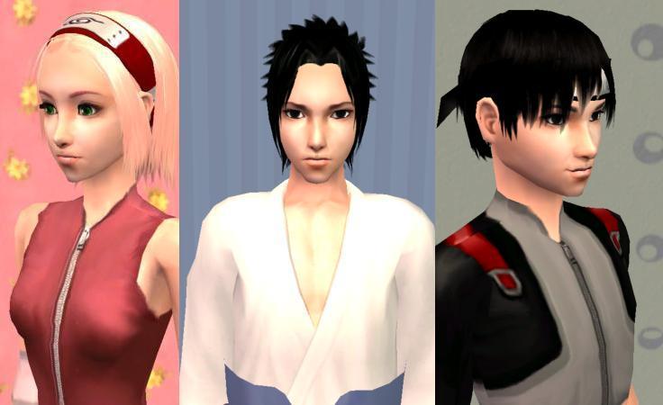 Mod The Sims - Shippuden: Naruto, Sakura, Sasuke,