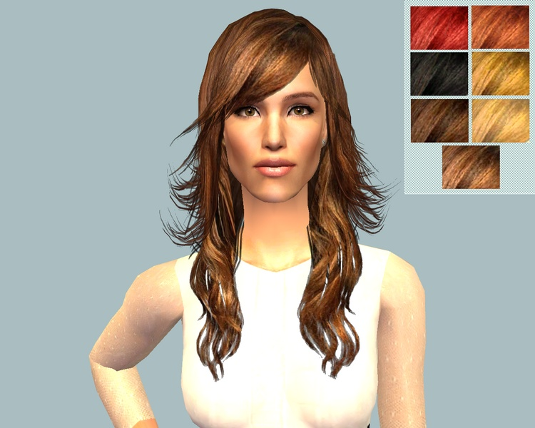 Mod the sims jennifer garner hairstyle xmsims hair 45 recolours advertisement urmus Image collections