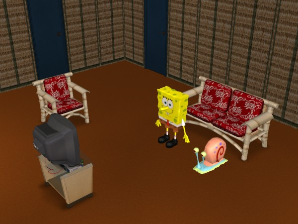 Spongebob squarepants house layout
