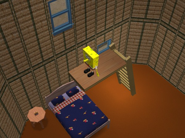 Spongebob pineapple house inside mod the sims spongebob