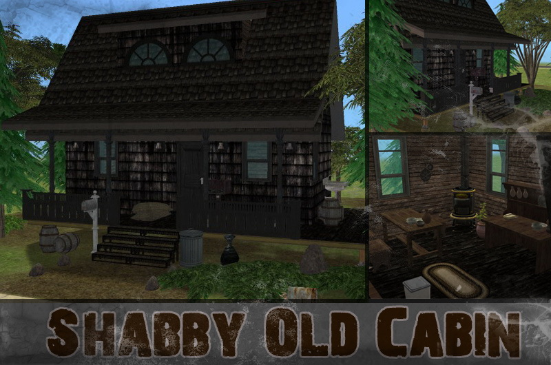 Mod the sims shabby old cabin run down haunted cabin for Classic house sims 3