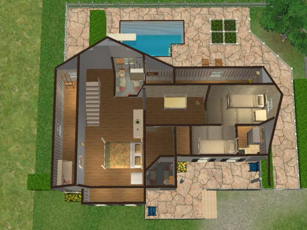 Marvelous Mod The Sims Simple Way 9 Cute Family House No Cc Largest Home Design Picture Inspirations Pitcheantrous