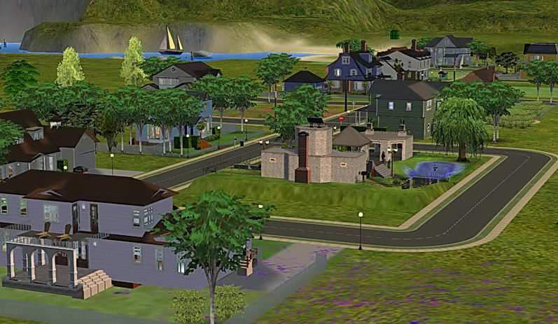 Mod The Sims Fairview Neighbourhood Map Including The