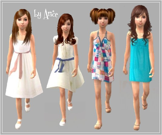 Mod The Sims Child Dresses Collection 1 Request
