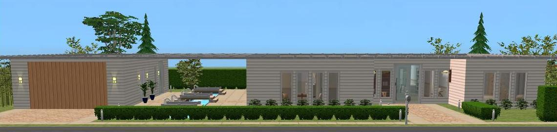 Mod The Sims Case Study House 1 Redux modern basegame noCC