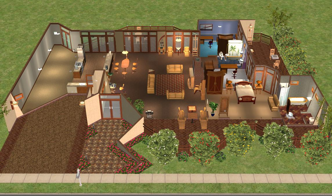 Mod the sims case study house 2 redux modern base game no cc house - The sims 3 case moderne ...