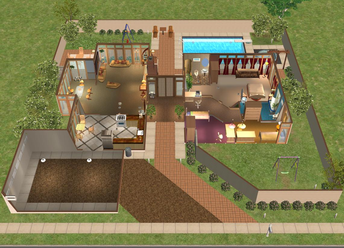 Mod the sims case study house 3 redux modern base game for Case the sims 3 arredate