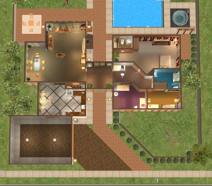 Mod The Sims Case Study House 3 Redux modern base game no CC