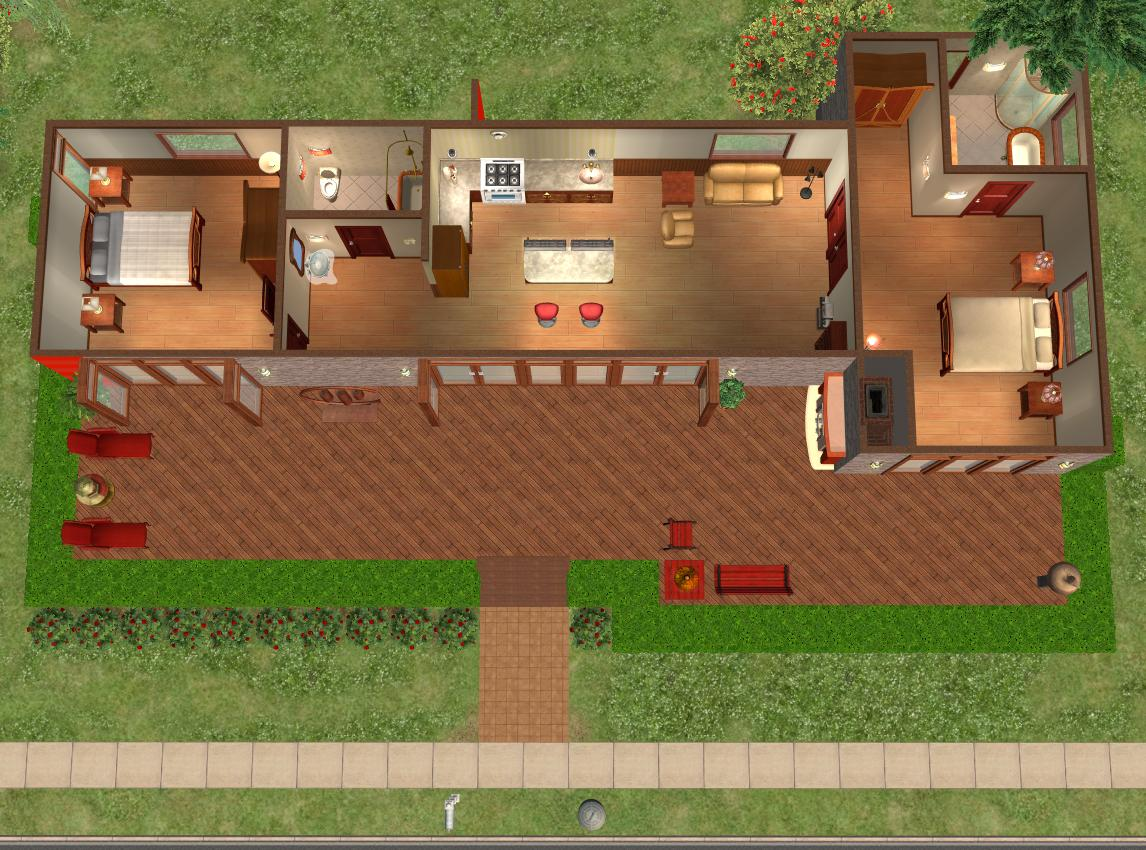 Mod The Sims Hummingbird H2 modern basegame nocc twobedroom