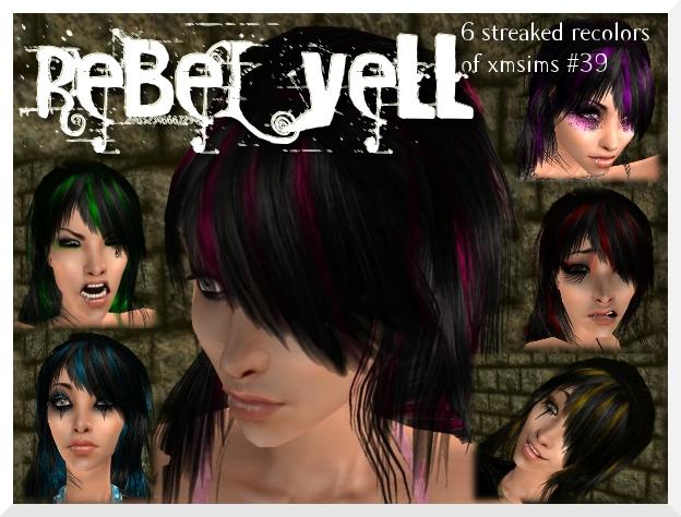 Mod The Sims - Rebel Yell - 6 Streaked Recolors of XMsims