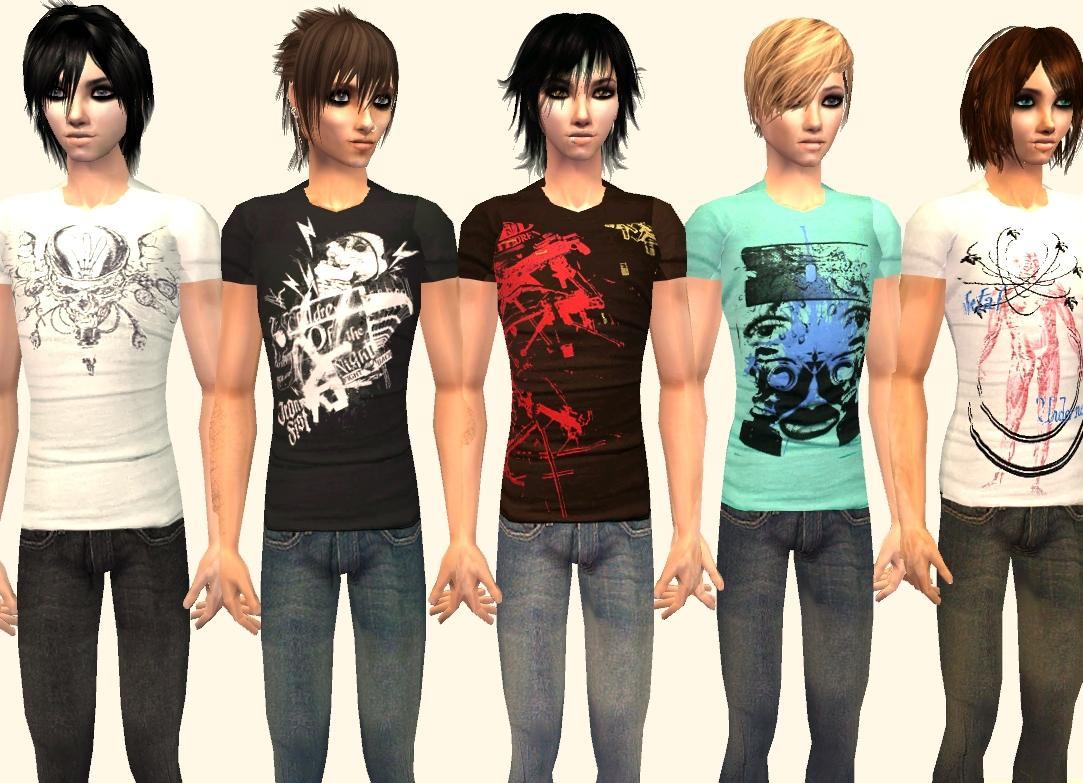 Mod The Sims - More Slim Fit Tees and Skinny Jeans - 5