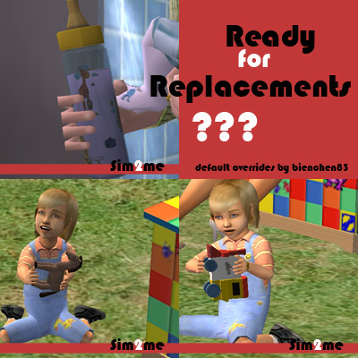Mod The Sims Maxis Default Baby Bottle And Toys