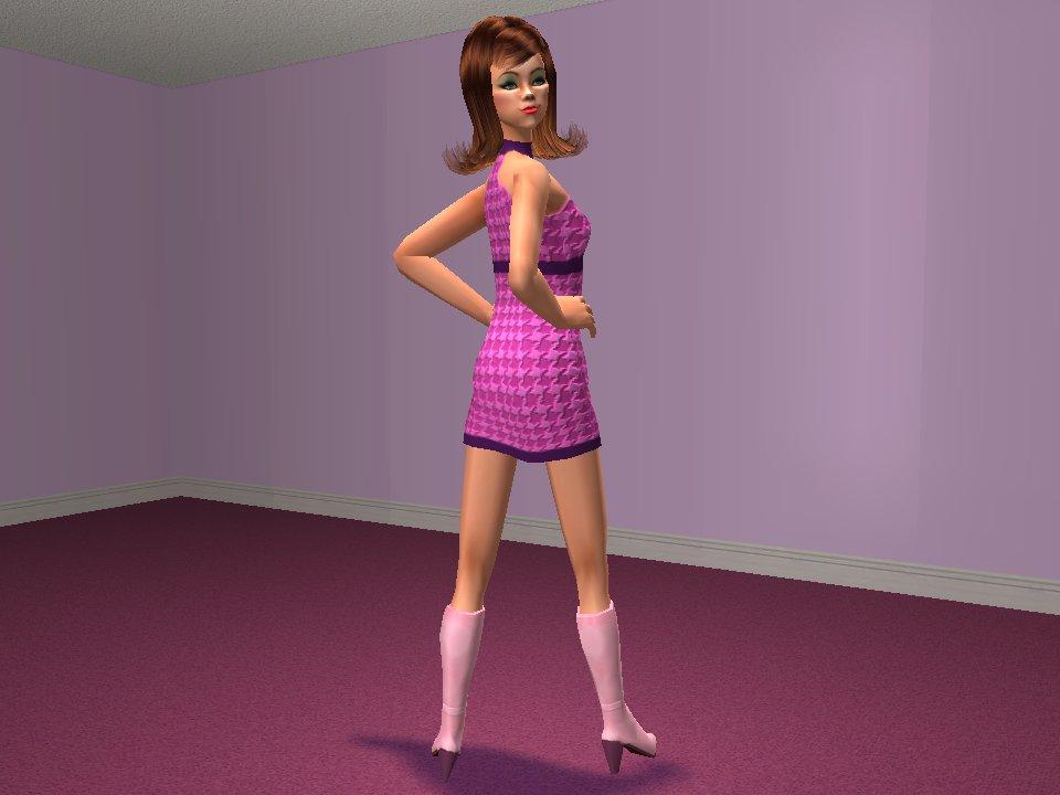 Mod Sims 60s Dress Recolor 1 Dancer