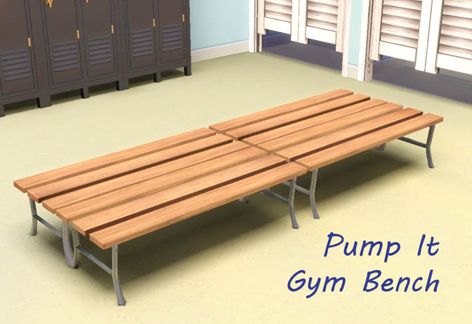 Mod the sims pump it gym bench