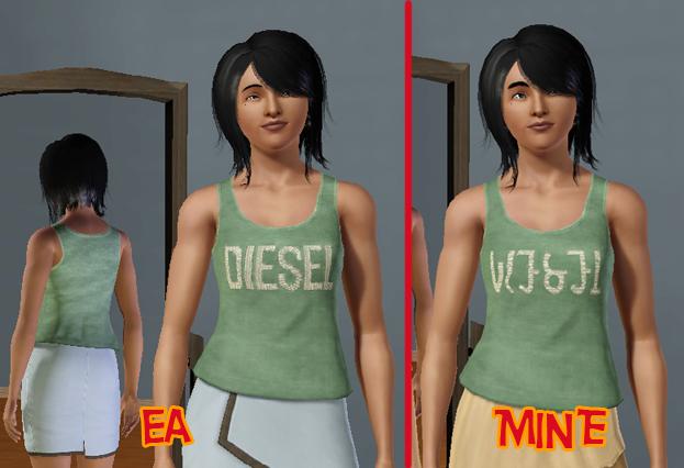 Mod The Sims - *DIESEL STUFF* Simlish CAS Defaults