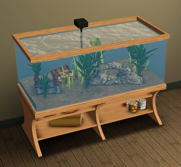 Mod the sims *updated* aquabox aquarium conversion.