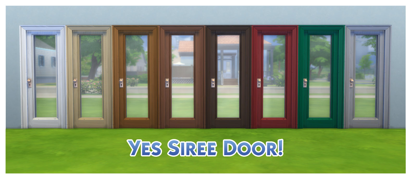 x & Mod The Sims - Door Colour Equality